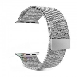 WiWU Stainless Steel Magnetic Milanese Loop Band Strap for Apple Watch – Silver
