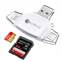 Coteetci Adapter Series -Perfect Design & Multi functional (Black/white)