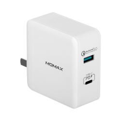 MOMAX One Plug 36W Type-C (PD) QC3.0 2 Ports USB Charger
