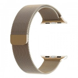 WiWU Stainless Steel Magnetic Milanese Loop Band Strap for Apple Watch – Gold