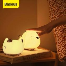 Baseus Cute Night Light Touch Sensor Animal Cat Dog RGB Color LED Night Lamp Light For Baby Children
