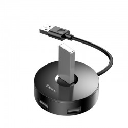 BASEUS Round Box Hub Adapter Type C to USB3.0*1+USB2.0*3 Converter