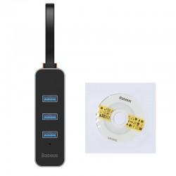 Baseus Steel Cannon Series USB A to USB3.0*3+RJ45 HUB Adapter