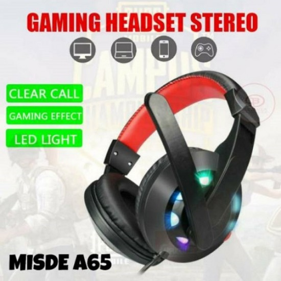 Headset Gaming MISDE A65 LED