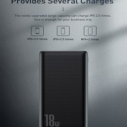 Baseus Bipow 10000mAh 18W Quick Charge Power Bank PD+QC