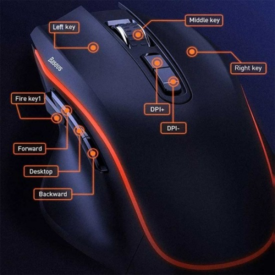 Baseus GAMO 9 Programmable Buttons Gaming Mouse GM01