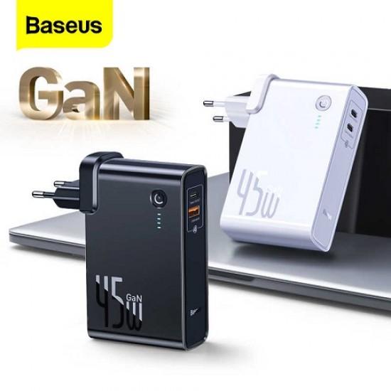 Baseus 45W GaN 2 in 1 Quick Charger & 10000mAh Powerbank