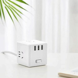Xiaomi Mijia Magic Cube Converter 3 USB Ports Fast Charger Power Strip Adapter