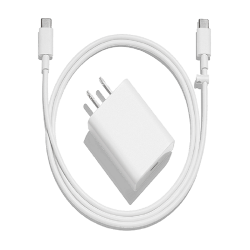 Google Pixel 18W USB-C Power Cable With Adapter USA Pin