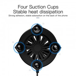 KUULAA Mobile Phone Radiator Gaming Portable Cooler Fan