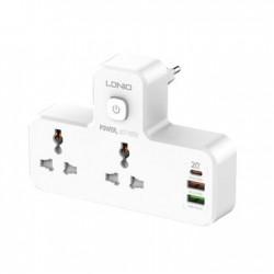 LDNIO Power Socket+Night Lamp With Universal 2 Port (SC2311)