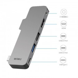 WiWu T5 USB C Hub With HDMI Supplier For Macbook