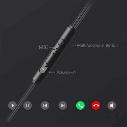 Uiisii HM12 Wired Half In Ear Deep Bass Earphones With Mic